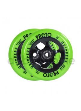 Proto Rueda Gripper 110 mm Verde-Negro (2und)