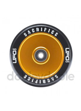 Sacrifice Rueda UFO 110mm Negro/Dorado (1und)