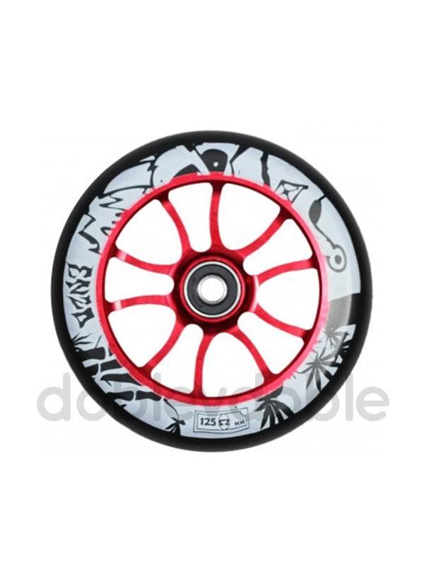 AO Rueda Enzo 125mm Negro/Rojo
