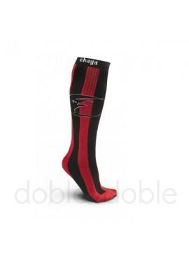 Calcetines Chaya Negro/Rojo