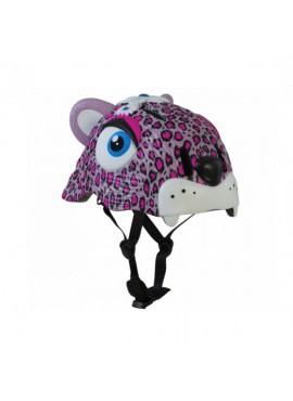 Crazy Safety Cascos Animales Leopardo Rosa