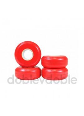 USD BLANK RUEDAS 57mm 90A 4 PACK Rojo