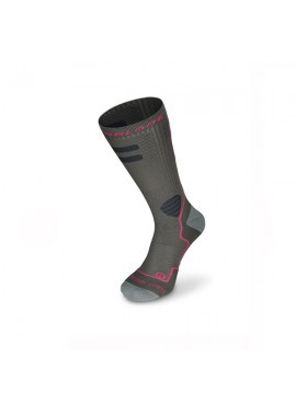 Rollerblade Calcetines High Performance Gris-Rosa