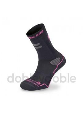 Rollerblade Calcetines Negro-Rosa