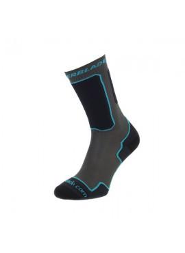 Rollerblade Calcetines Performance Gris/Azul turquesa